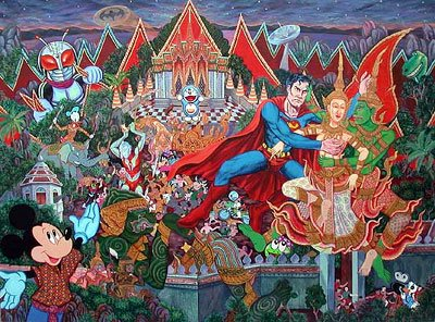 "Jirapat Tasanasomboon's ""Superman and Rama's Struggle over Sita"" (2002)"