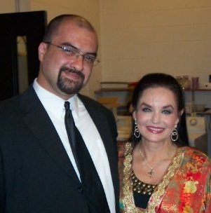 Jon Silpayamanant with Crystal Gayle after playing a show with her in Lancaster, PA at the American Music Theatre. September 18, 2008
