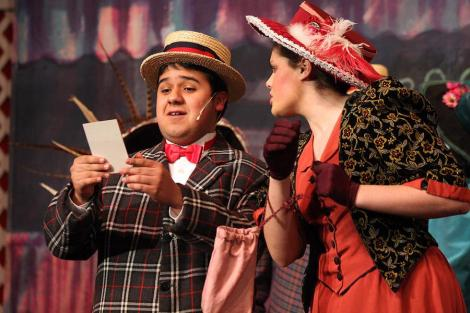 "NAHS students in rehearsal for ""Hello, Dolly!"""