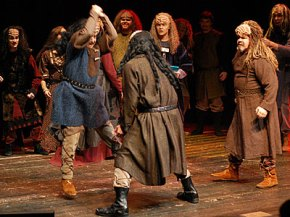 "A scene from Commedia Beauregard's production of ""A Klingon Christmas Carol"""