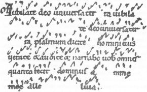 Example of early Western neume notation