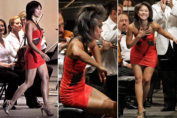 Yuja Wang playing with the LA Phil in her 'scandalous' dress