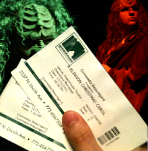 "One of the benefits from being the composer for a production is the comp tickets!  These were from Chicago's Commedia Beauregard's production of ""A Klingon Christmas Carol"" winter 2011"