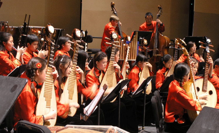 The Firebird Youth Chinese Orchestra in San Francisco is one of several dozens of large ensembles formed in the US which don't follow the European Orchestra model. There are over two dozen ensembles of traditional Chinese instruments in the Bay Area, ranging from grade school ensembles to semi-professional/community orchestras as well as traditional Chinese Music Education at various k-12 schools and colleges in the area.