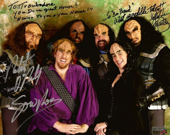 il Troubadore with Gowron and Martok