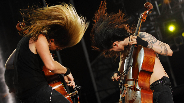 Apocalyptica in headbanging mode.