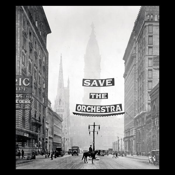 """Campaign to Raise $1 million for Philadelphia Orchestra."" Photograph by staff photographer. For Philadelphia Evening Bulletin, 1919."