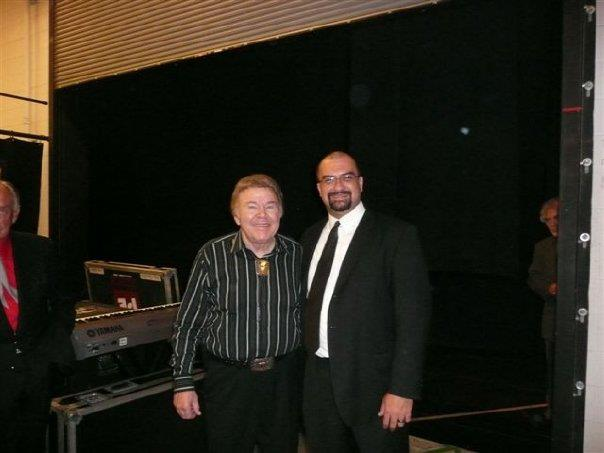 Jon Silpayamanant with Roy Clark after playing a show with him in Lancaster, PA at the American Music Theatre. September 18, 2008