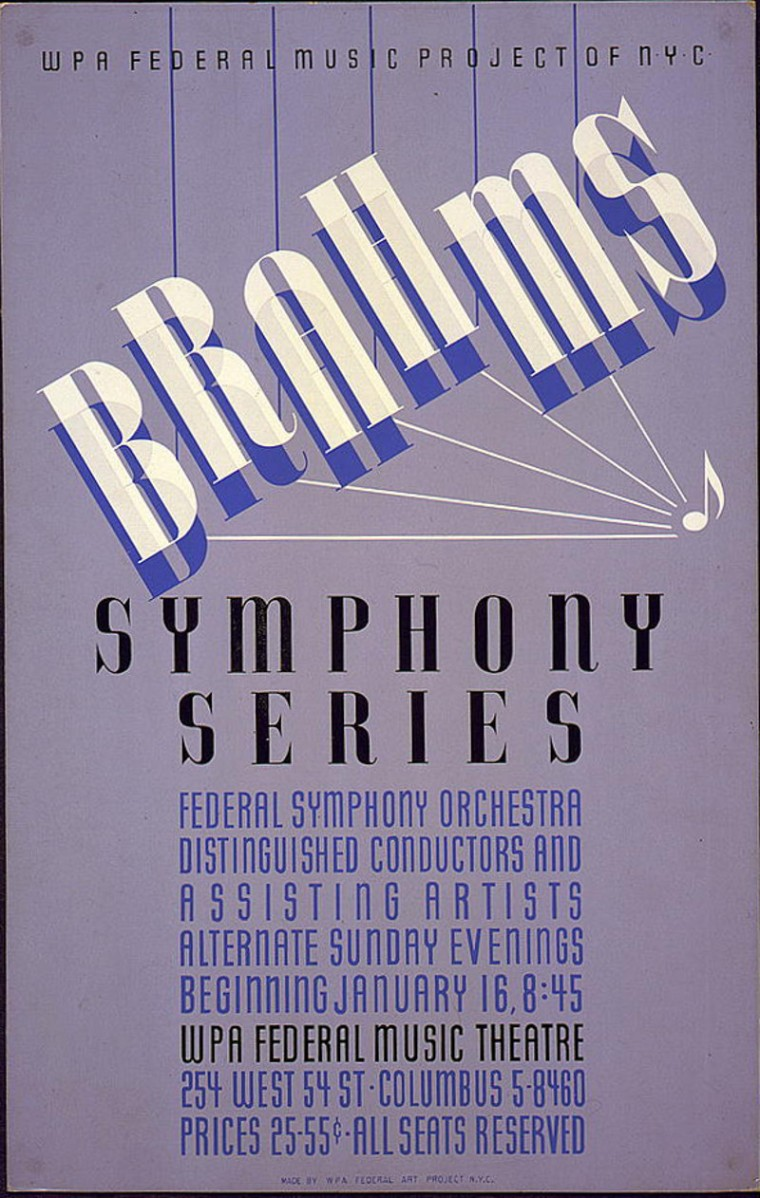 A WPA Federal Music Project Poster
