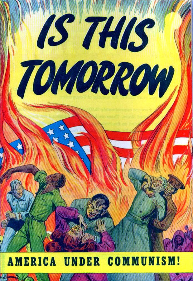 A 1947 propaganda comic book published by the Catechetical Guild Educational Society raising the specter of a Communist takeover