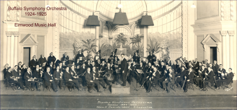 Buffalo Symphony Orchestra, Arnold Cornelissen, conductor (1924-1925) photo by King Robinson