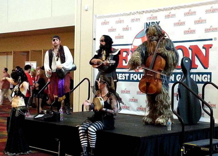 il Troubadore performing at Gen Con Indy 2013.  Nearly 50,000 people attended this year's event.
