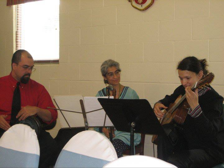 Jon Silpayamanant performing with the Balkan Band, Kermes, at St. Nicholas Serbian Orthodox Church in Indianapolis.