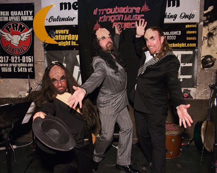 The il Troubadore Klingon Lounge Band after a performance at the Melody Inn, one of Indianapolis' old punk rock clubs.
