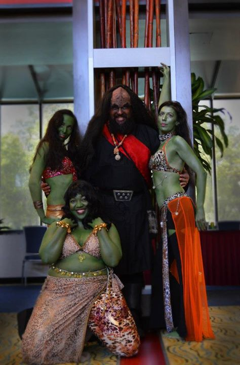 "Jon Silpayamanant with Orion dancers after the Klingon Opera-Ballet ""wa' SaD ram wa' ram je"" at TrekTrax Atlanta. April 21, 2013"