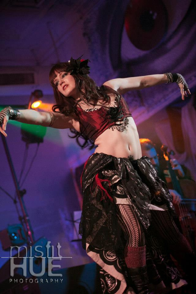 Jon Silpayamanant performing with The Ghosts Projects for bellydancer, PixieNyx, at 2720, a club in St. Louis.