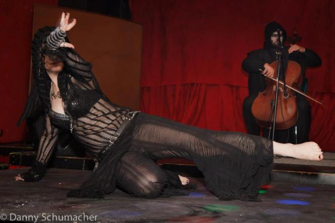 "Jon Silpayamanant as ""Death"" playing for Tempest at the Crack Fox in St. Louis."