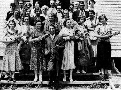 FERA Orchestra Class, Horseshoe Bend, Idaho. ca. 1935
