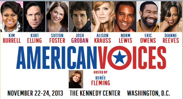The American Voices Festival at the Kennedy Center, November 22-24, 2013.