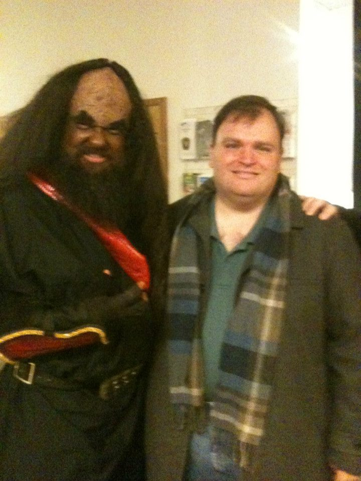 """j'onn with Joe Patti, director of the Vern Riffe Center for the Arts at Shawnee State University, and author of the """"Butts In the Seats"""" blog."""