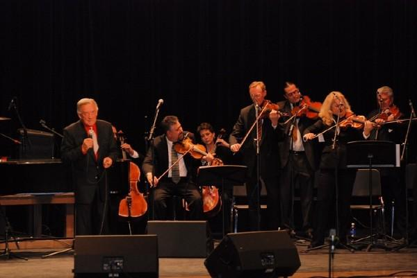 Jon Silpayamanant playing in the string section for Country Music legend, Ray Price, at the Caldwell Auditorium in Tyler, Texas.  January 12, 2008