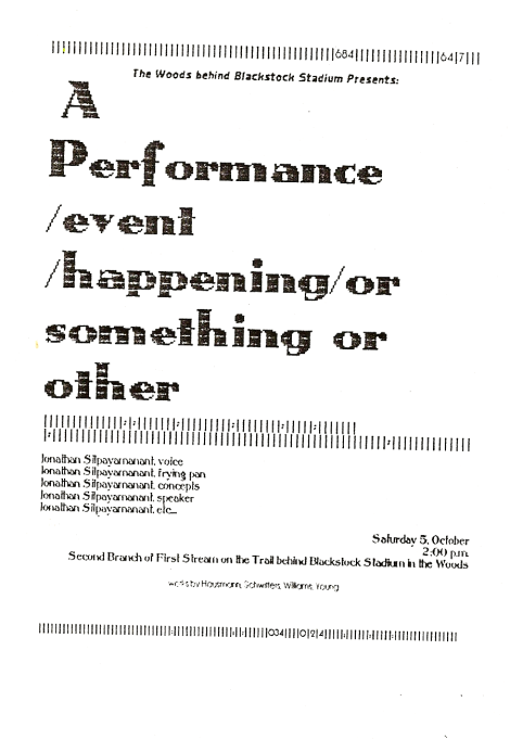 Program for the first Chell Shed event in 1996 October 5