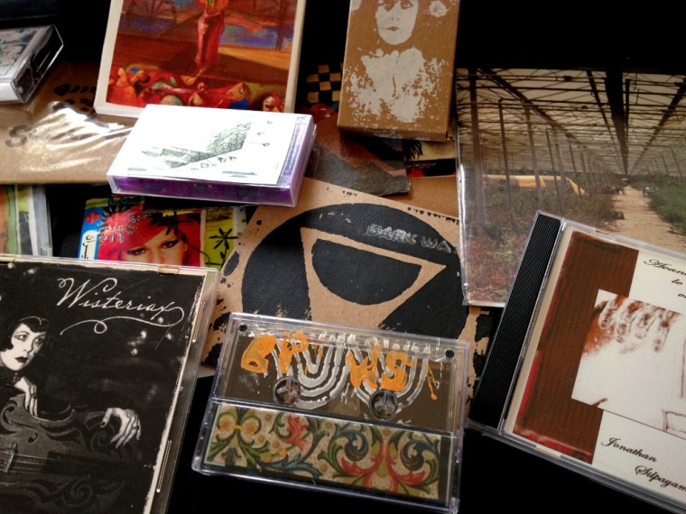 Just a handful of the thousands of self-released albums in my collection.