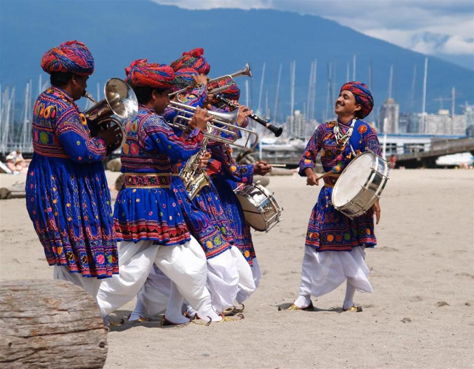 Musicians for an Indian Baraat processional