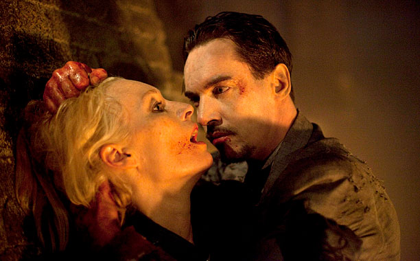 Dracula had just finished off his nemesis, Lady Jayne Wetherby, in the season (and what would be the series) finale.