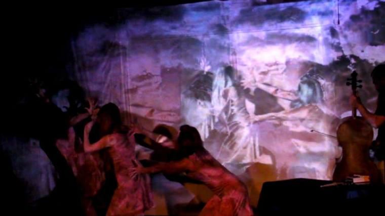 Camera Lucida and Blue Moves Modern Dance Company performing at the Centennial Black Box Theater in Nashville, Tennessee. March 16, 2014. Still from video.