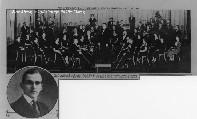 New Albany Civic Orchestra at New Albany High School (1934)