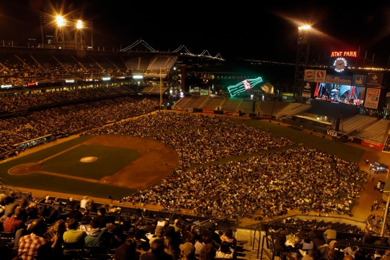 "32,000 folks watch the San Francisco Opera's production of ""Aida"" at the ATT Ballpark in 2010"