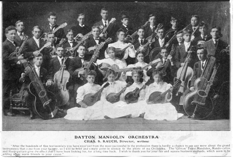 Dayton Mandolin Orchestra early 1900s